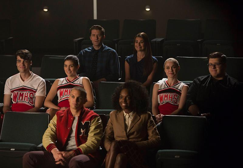 "GLEE: a tween requests that members of New Directions perform at his bar mitsvah in the ""Child Star"" episode of GLEE airing Friday, Feb. 27 (9:00-10:00 PM ET/PT on FOX. Pictured L-R: Billy Lewis Jr., Laura Dreyfuss, Matthew Morrison (back), Lea Michele, Becca Tobin and Noah Gurthrie. Front: Marshall Williams and Jane Hayward. (Photo by FOX Image Collection via Getty Images)"
