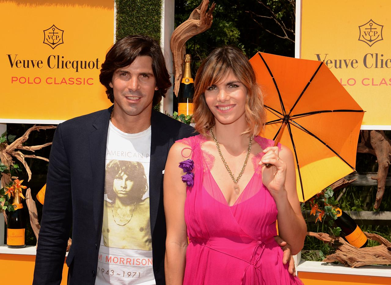 JERSEY CITY, NJ - JUNE 02:  Hosts, polo player and model Nachos Figueras, and Delfina Blaquier attend the fifth annual Veuve Clicquot Polo Classic on June 2, 2012 in Jersey City.  (Photo by Andrew H. Walker/Getty Images for Veuve Clicquot Polo Classic)