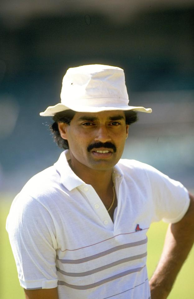 17 Nov 1988:  Portrait of Dilip Vengsarkar of India during the First Test match against New Zealand at Chinnaswamy Stadium in Bangalore, India. India won the match by 172 runs.  \ Mandatory Credit: Simon  Bruty/Allsport