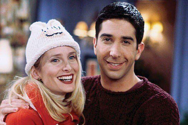 Jane Sibbett as Carol Willick-Bunch with David Schwimmer as Ross Geller (Photo: NBC)