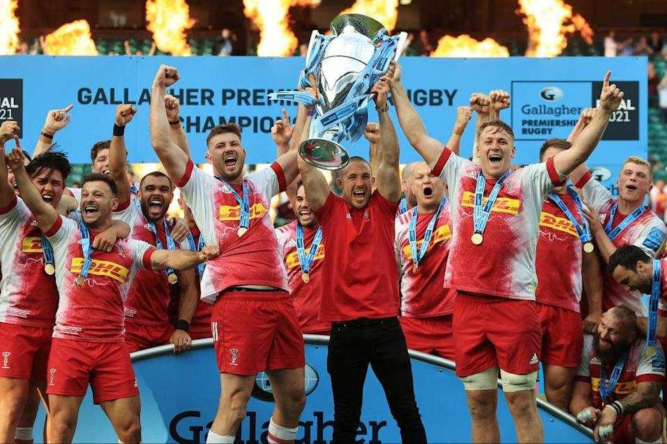 Harlequins celebrate winning the Premiership Final, a match the new chief executive described as 'unforgettable'  (Getty Images)