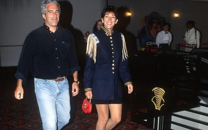 Jeffrey Epstein and Ghislaine Maxwell pictured in 1995 - Patrick McMullan