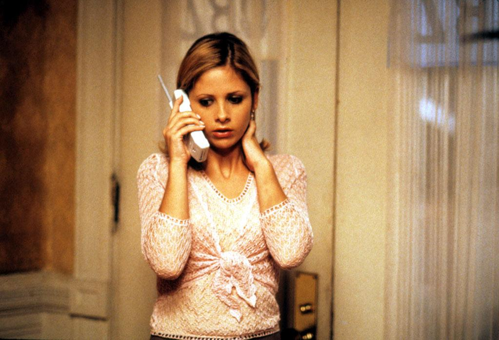 """UP — '<a href=""""http://movies.yahoo.com/movie/1800024386/info"""" target=""""_blank"""" rel=""""nofollow"""">Scream 2</a>' (1997): It was a small role but in a big franchise, so that's something. It seemed like Gellar's career was on an upward trajectory after this."""