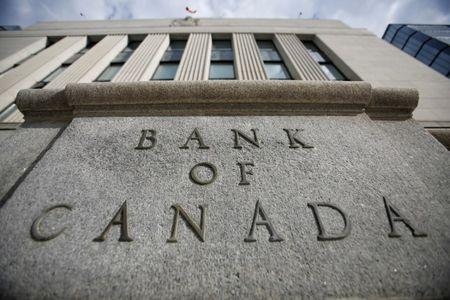 FILE PHOTO -  A sign is pictured outside the Bank of Canada building in Ottawa