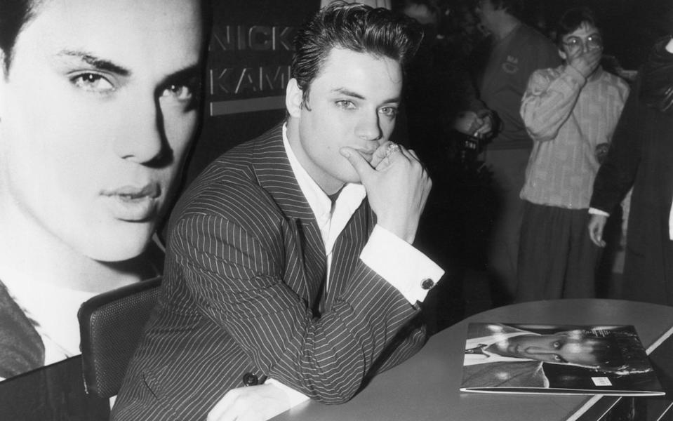 Nick Kamen at a signing session in 1987 for his self-titled debut album - Nick Kamen at a signing session in 1987 for his self-titled debut album