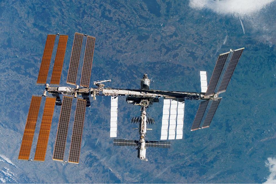 A Russian lab module is due to dock on the International Space Station (Nasa/PA) (PA Media)