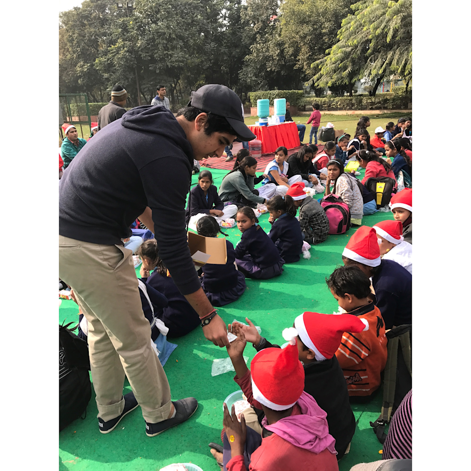 """Spreading cheer with the kids at """"Kids Day Out"""" organised by Genesis Foundation."""