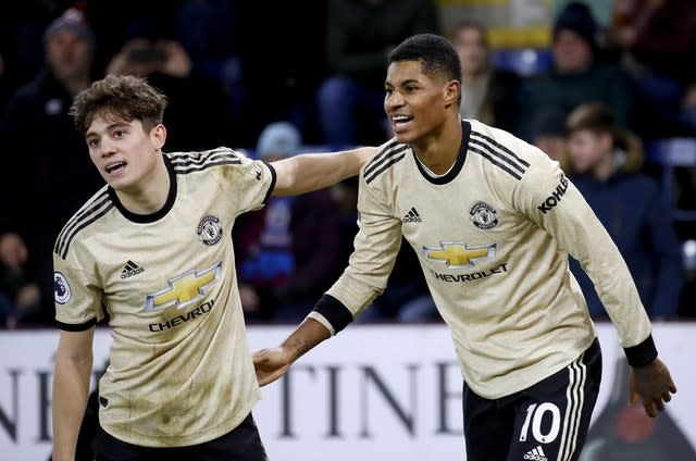 Solskjaer is not worried about youngsters Daniel James and Marcus Rashford playing too much (Martin Rickett/PA)