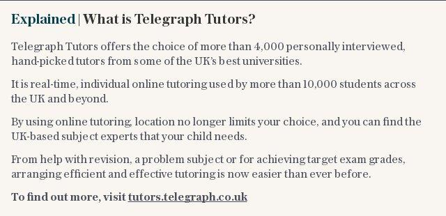 Explained | What is Telegraph Tutors?