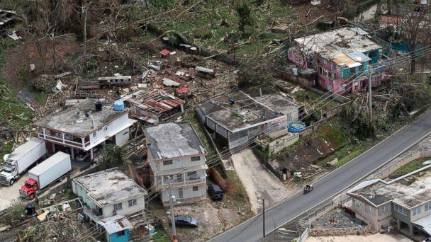 PHOTO: In this file photo, an aerial image showing the damage done to the Morovis area of Puerto Rico three days after hurricane Maria passed through the island on Sept. 20, 2017. (David Villafane/gfrmedia via AP Photo, FILE)