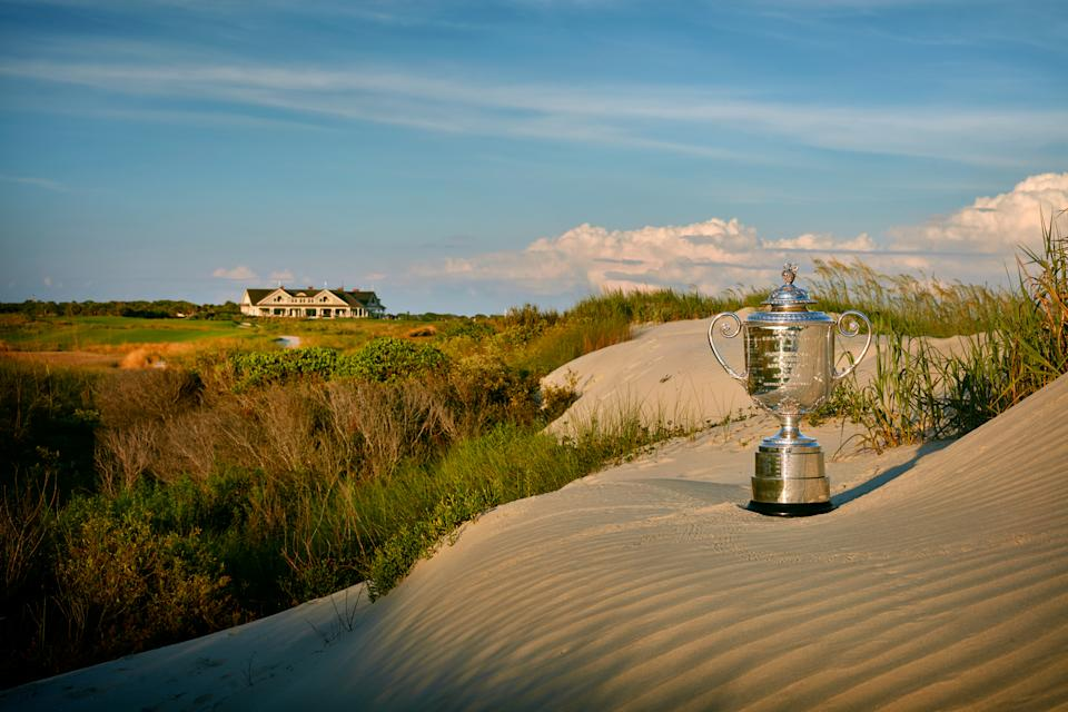 The Wanamaker Trophy, the PGA Championship's prize. (Gary Kellner/The PGA of America via Getty Images)