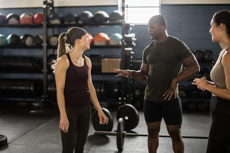 """<p>There are only so many fitness-related topics you can discuss with your personal trainer. They'll naturally try to create a more comfortable atmosphere by getting to know you. Depending on your schedule, you may even see your personal trainer more than your friends and family. Part of the appeal of opening up to your trainer is the fact that you can count on an objective opinion. Your mom or best friend may want to sugarcoat your outfit, but your trainer is focused on making sure you're the best version of yourself.</p><p>The more comfortable and confident you get in your workouts, the more you'll start opening up. You'll tell your trainer about a fight you had with your boyfriend or unload about a stressful project at work. """"If someone uses their workouts as a place to vent and offload emotional baggage, that can be very liberating,"""" says Peterson. """"I make it a point to listen, rather than give advice because that's not my area of expertise. I can help you walk through bouts of over eating or excessive partying, but I believe that giving life advice should be left to trained professionals. In the meantime, let's knock out this set of squats, OK? That's how this trainer does therapy."""" </p>"""
