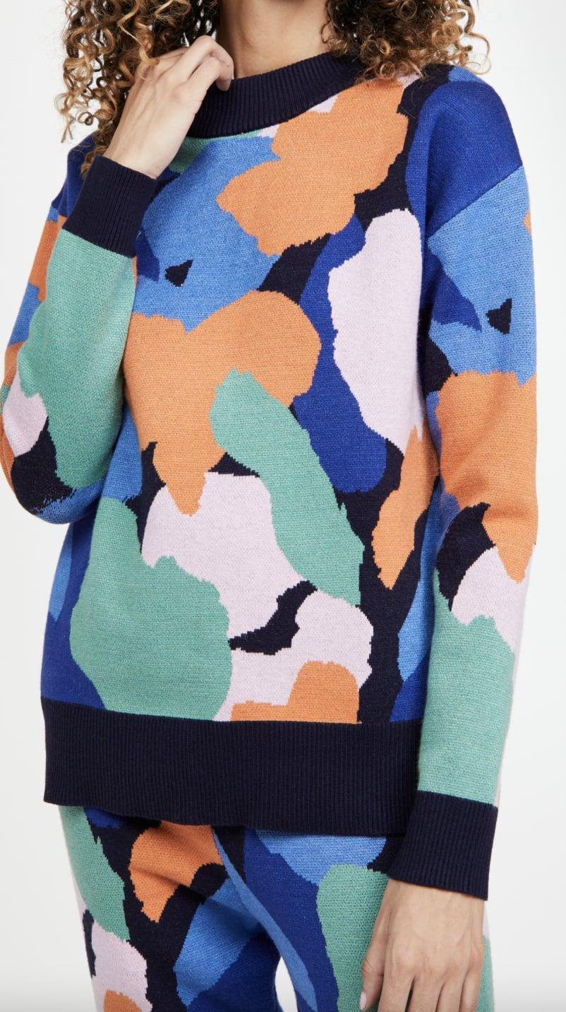 <p>Love a bold print? Then this <span>Never Fully Dressed Mara Crew Neck Knit Top</span> ($139) is for you.</p>