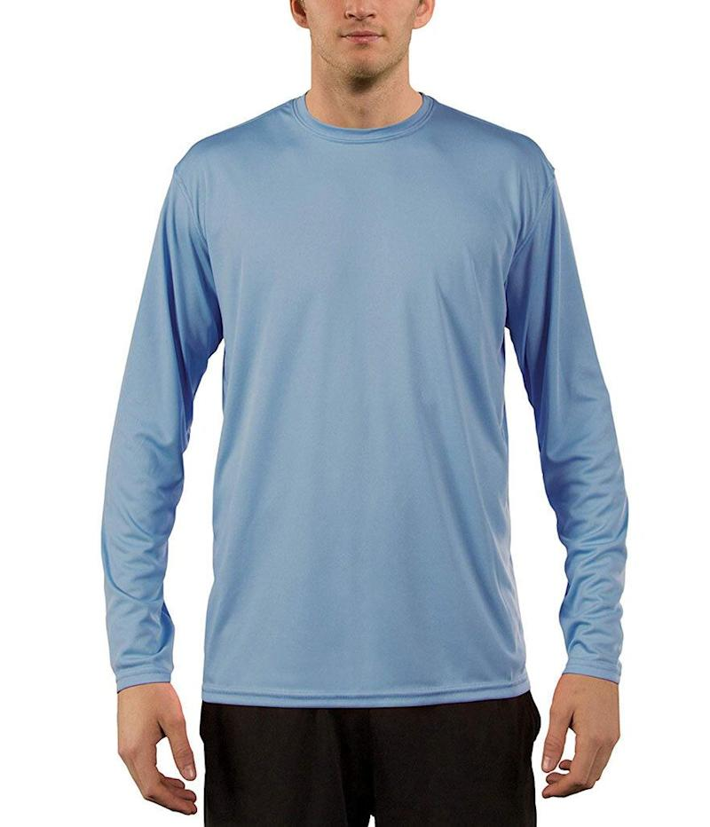 Vapor Apparel Men's UPF 50+ UV Sun Protection Performance Long Sleeve T-Shirt (Photo: Amazon)