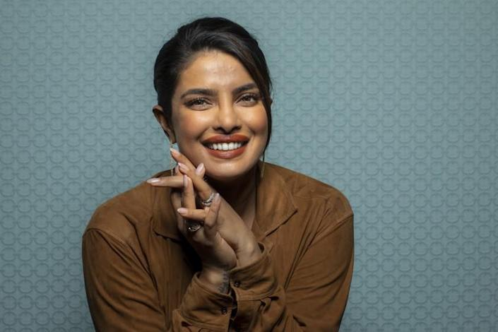 Priyanka Chopra Jonas photographed in the L.A. Times Photo Studio at the Toronto International Film Festival in 2019.