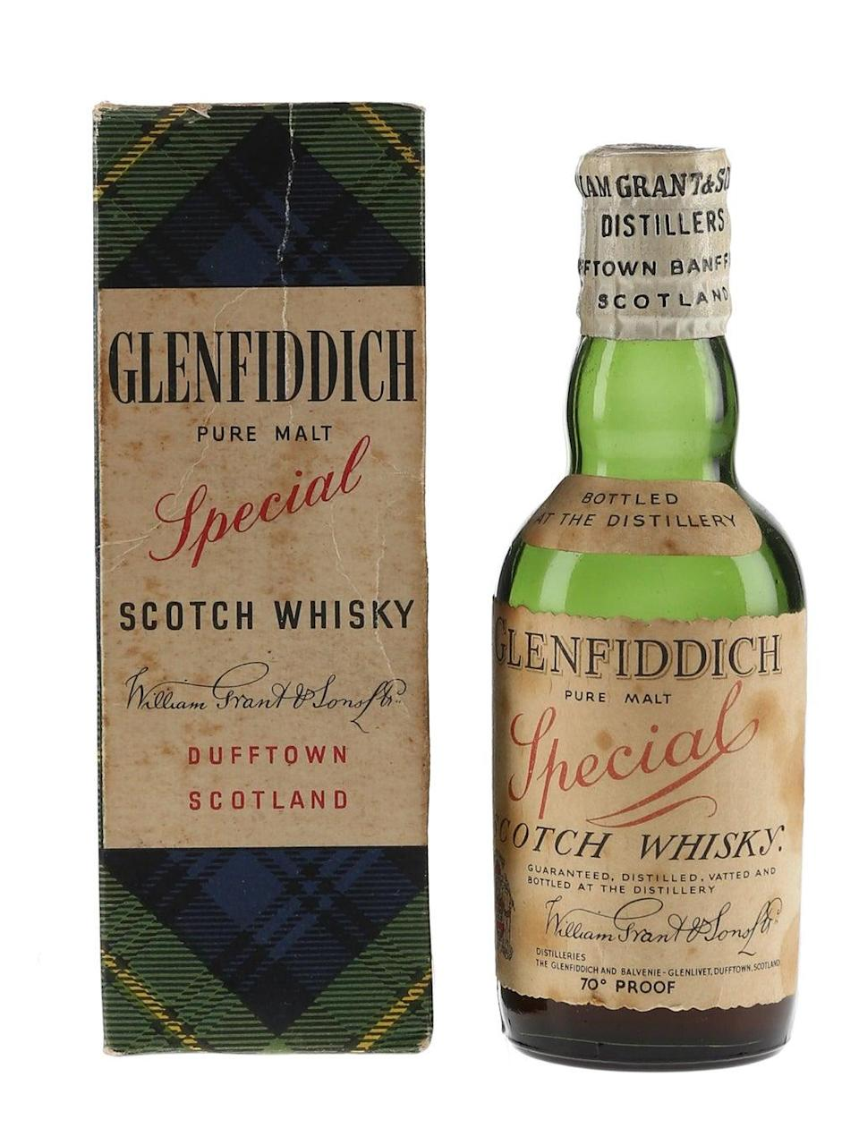 The Glenfiddich and box sold for £2530 (Whisky.Auction/PA)
