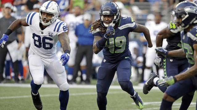 Shaquem Griffin is about to start in his first NFL game. (Getty)