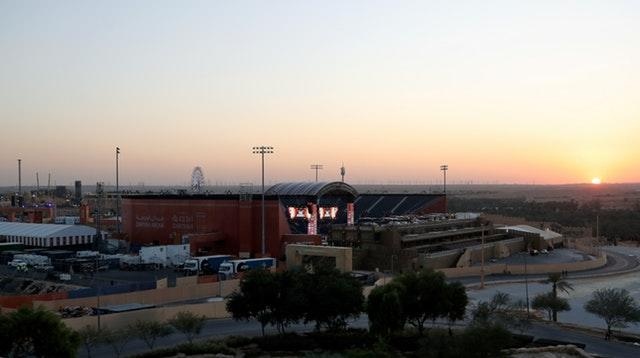 The fight will take place at the Diriyah Arena (Nick Potts/PA).