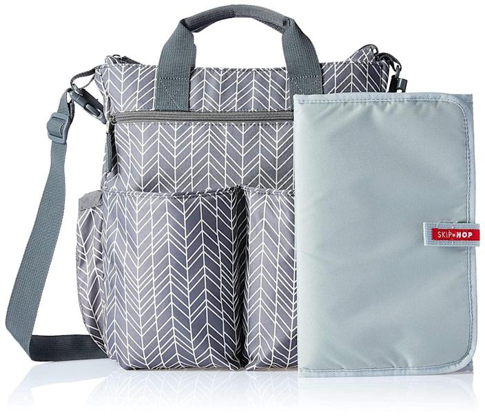 <p>The <span>Skip Hop Messenger Diaper Bag </span> ($60, originally $65) has tons of external pockets and comes with a removable changing pad for easy diaper changes.</p>