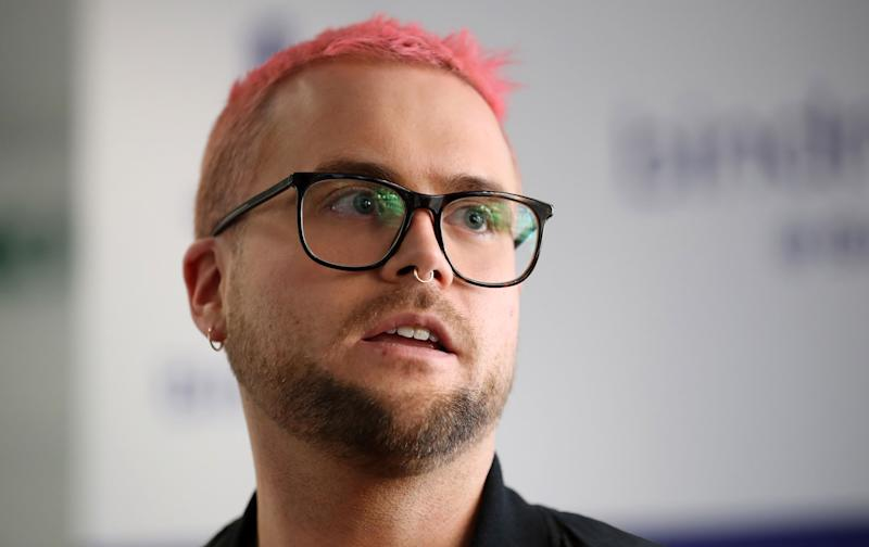 LONDON, ENGLAND - MARCH 26:  Whistleblower Christopher Wylie during a press conference in the offices of his solicitors, Bindmans LLP on March 26, 2018 in London, England. Former Vote Leave volunteer Sanni raised concerns that the official Leave campaign may have broken referendum spending rules and then tried to destroy evidence. A substantial sum was spent with AggregateIQ which has links to Cambridge Analytica. Former employee Christopher Wylie exposed how Cambridge Analytica had allegedly harvested date from millions of Facebook users to influence the outcome of the 2016 US Presidential election.  (Photo by Dan Kitwood/Getty Images)