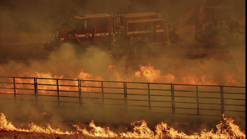 A state of emergency has been declared in northern California, where a new wildfire has killed one