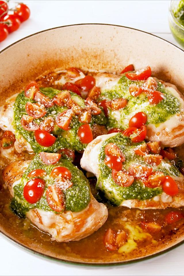 """<p>Summer was made for this.</p><p>Get the recipe from <a href=""""https://www.delish.com/cooking/recipe-ideas/a20118618/pesto-chicken-recipe/"""" target=""""_blank"""">Delish</a>.</p>"""