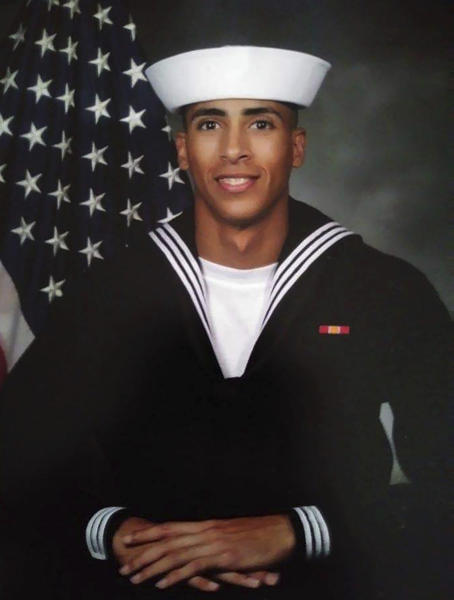 This undated photo provided by the U.S. Navy shows Airman Mohammed Sameh Haitham, from St. Petersburg, Fla. One of the victims of the shooting Friday, Dec. 6, 2019, at Naval Air Station Pensacola, Fla., has been identified as Haitham, 19, who joined the Navy after graduating from high school last year, according to the Tampa Bay Times. (U.S. Navy via AP)
