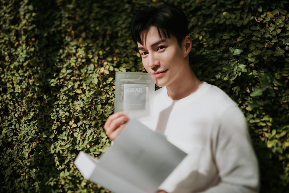 Lawrence Wong launches his own skincare line, Grail. (PHOTO: Red Dot Entertainment)