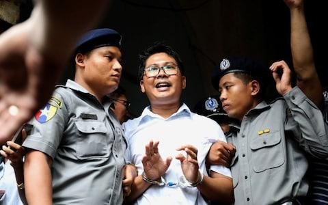 Reuters journalist Wa Lone departs Insein court after his verdict announcement in Yangon - Credit: Reuters