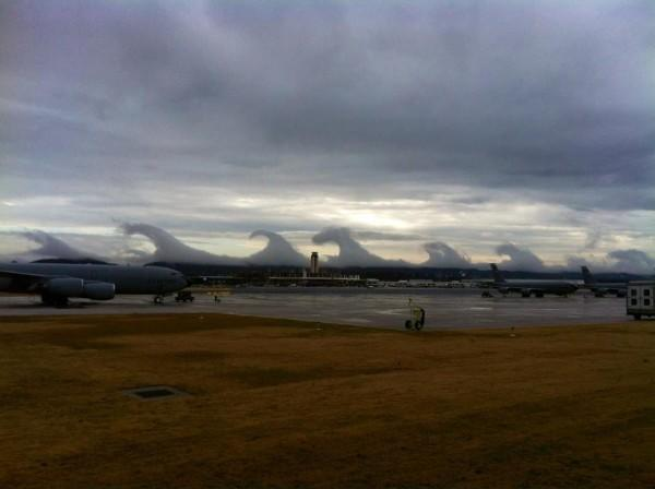 Caption info: Clouds along the horizon in Birmingham, Ala., on Friday (Dec. 16). Credit: ABC 33/40 in Birmingham