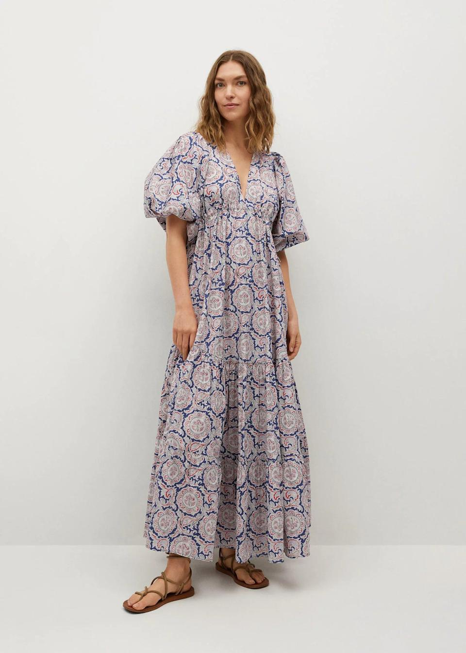 <p>This <span>Mango Printed Maxi Dress</span> ($120, originally $200) will make a statement whether you're headed to brunch or a museum. Pair it with high-heeled boots for the perfect transitional look.</p>