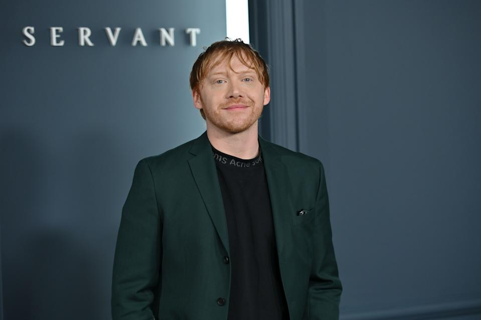 "Rupert Grint arrives for Apple TV+ premiere of ""Servant"" in Brooklyn, New York on November 19, 2019. (Photo by Angela Weiss/AFP via Getty Images)"