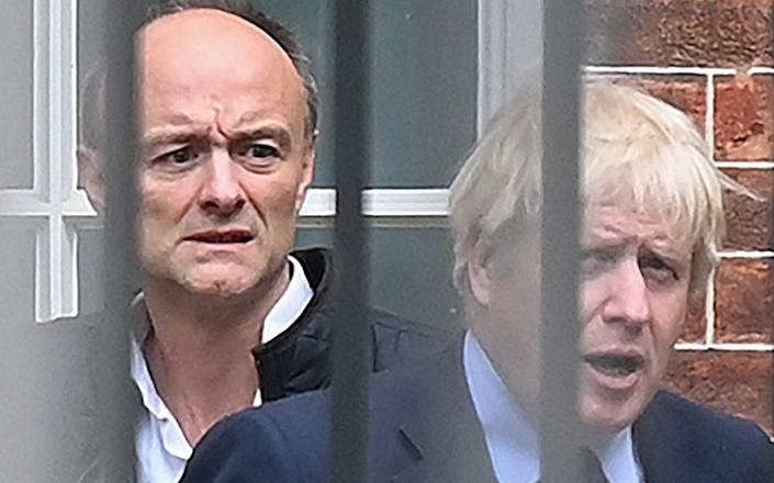 Dominic Cummings will say that the border plans were overruled by Boris Johnson - Daniel Leal-Olivas/AFP