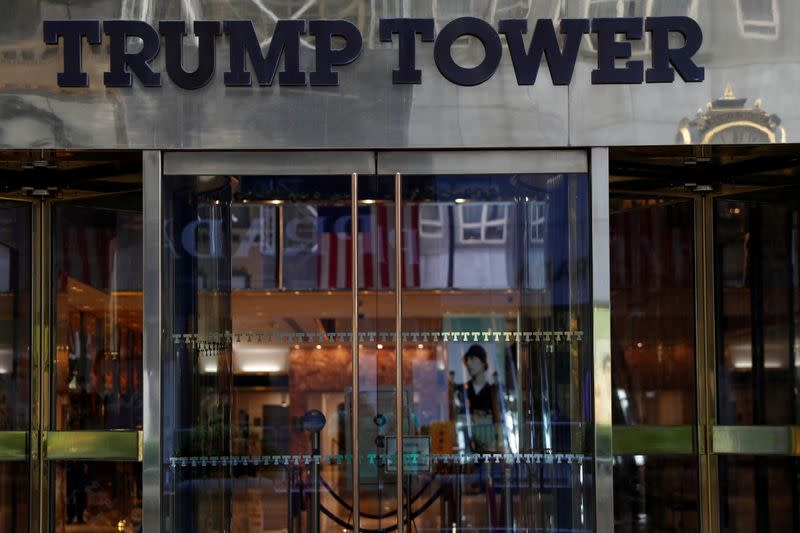 FILE PHOTO: The entrance to Trump Tower on 5th Avenue is pictured in the Manhattan borough of New York City