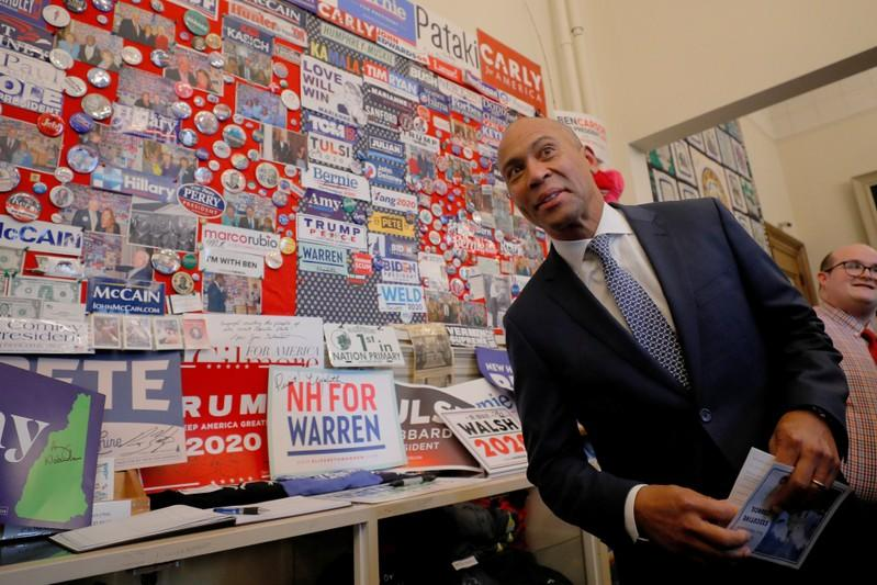 Democratic 2020 U.S. presidential candidate Patrick stops in the visitors center in Concord