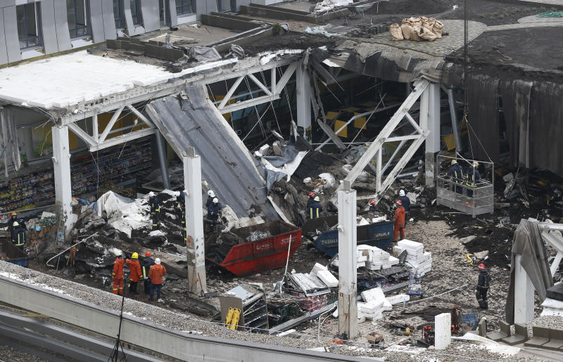 3rd section of Latvian supermarket roof collapses