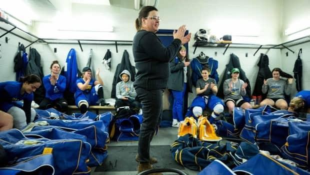 As the 2021 championship goes ahead in Halifax and Truro next month, Ryerson Rams women's hockey head coach Lisa Haley will stand behind Hungary's bench in her home province. (Christian Bender/Ryerson Rams - image credit)