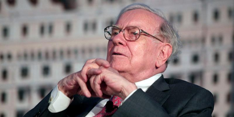 warren buffett sits back