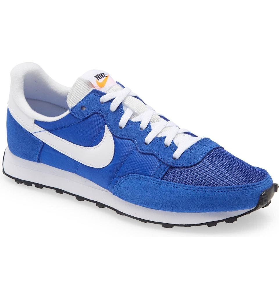 """<p>""""I love a classic shoe I can run around the city in that also goes with almost everything. These <span>Nike Challenger OG Sneakers</span> ($90) are men's, but you can buy the smaller size. The waffle sole is retro in look but so comfortable you can wear them for miles!"""" - Lisa Sugar, founder</p>"""