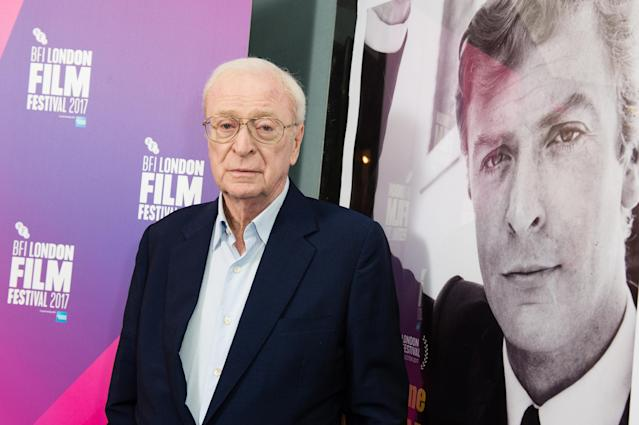 Michael Caine says he doesn't regret working with Woody Allen but wouldn't again. (Jeff Spicer via Getty Images)