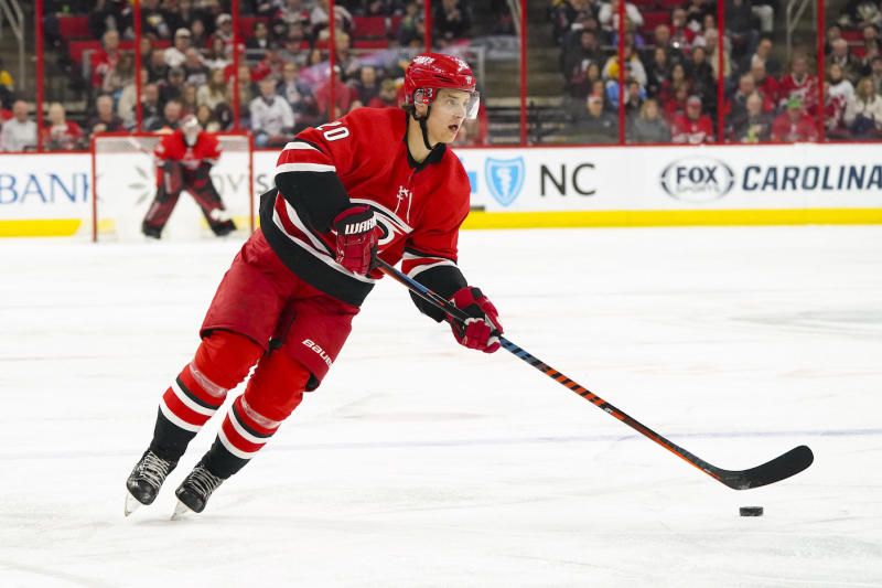Carolina Hurricanes star Sebastian Aho explained why he signed an offer sheet with the Montreal Canadiens, before it was matched by his current club. (James Guillory-USA TODAY Sports)