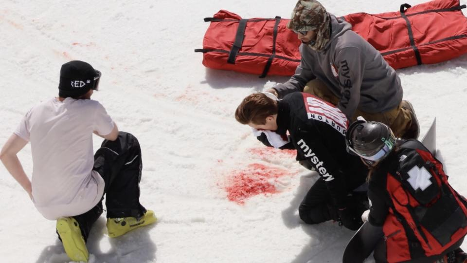 Shaun White was injured during a training run in New Zealand.