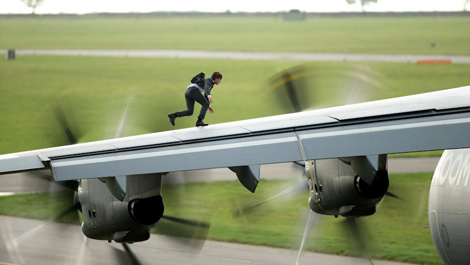 Tom Cruise attempts another daredevil stunt in 2015's Mission: Impossible - Rogue Nation (Paramount)