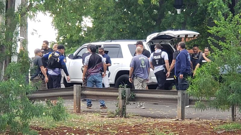 Police arrive at the active shooter situation. Source: Khon2