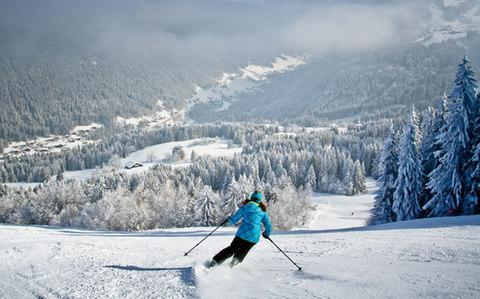 <span>Morzine was the lowest-priced French resort in the survey</span> <span>Credit: Sylvain Cochard </span>