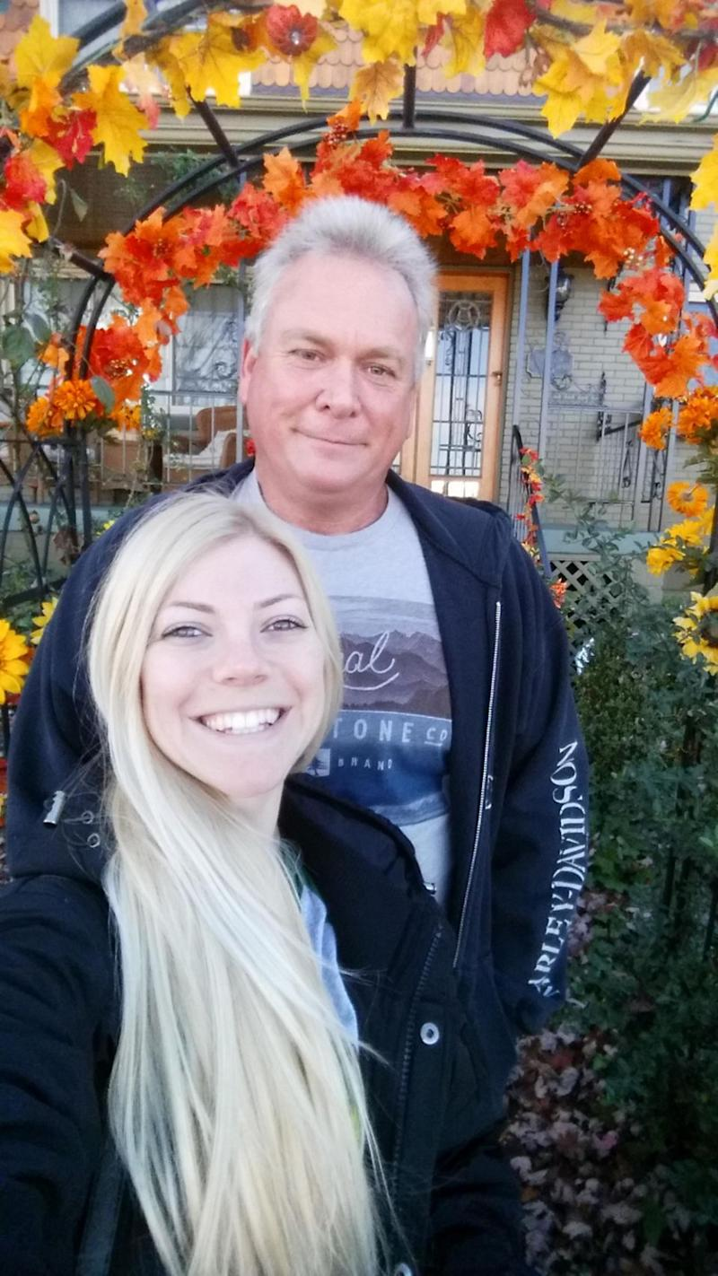 Amanda Harper, who is 25-years-old and Jay Horsky, who is 58-years-old, maintain they are not ashamed of their age difference. Photo: Caters News
