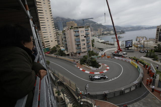 Mercedes driver Valtteri Bottas of Finland steers his car during the first practice session at the Monaco racetrack, in Monaco, Thursday, May 23, 2019. The Formula one race will be held on Sunday. (AP Photo/Luca Bruno)