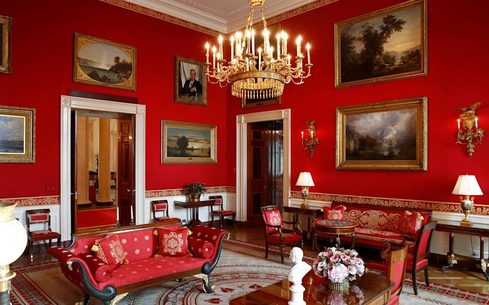 The Red Room at the White House - AP Photo/Patrick Semansky