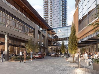 The plaza at Avenue Bellevue has been designed to be the new center of Bellevue's energy and will feature high-end retail, food and nightlife, a fresh market and fine dining. For more information visit www.liveatavenue.com.