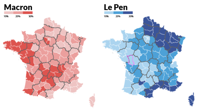 France Election: Macron vs Le pen voters